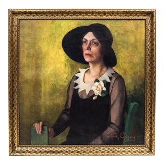 1920s Oil Portrait Painting by Sue Gregory