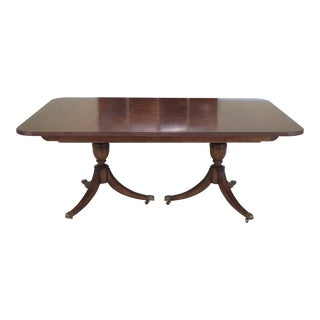 Duncan Phyfe for Century Brown Mahogany Dining Room Table
