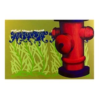 "Original ""Summer Sprinkler"" Acrylic Painting"