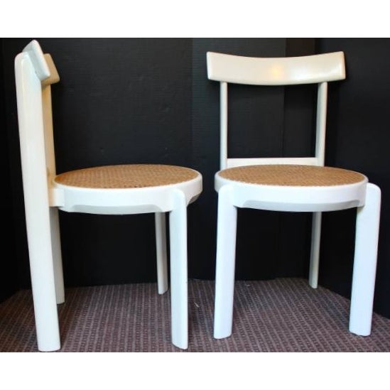 Midcentury Italian White Lacquered Chairs - A Pair - Image 10 of 10