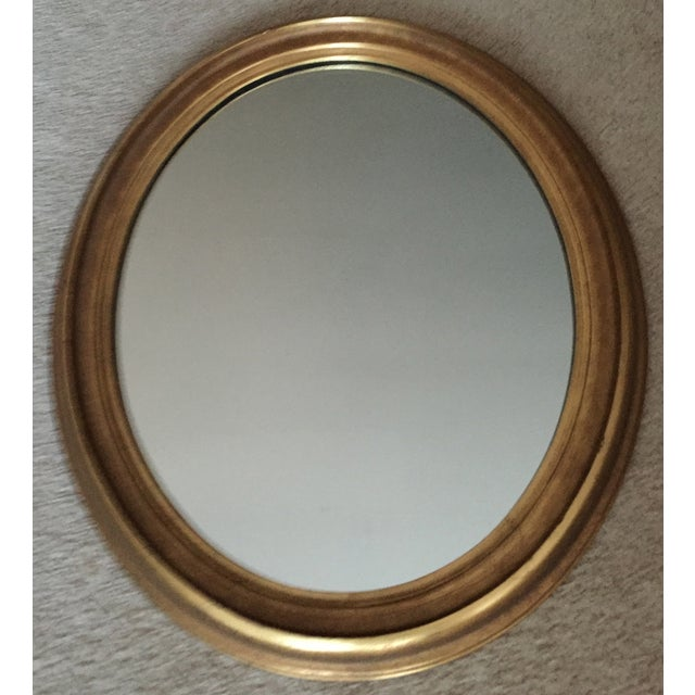 Vintage Gilt Wood Oval Mirror - Image 3 of 8