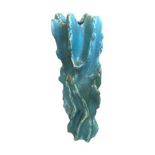 Turquoise Ceramic Japanese Vase