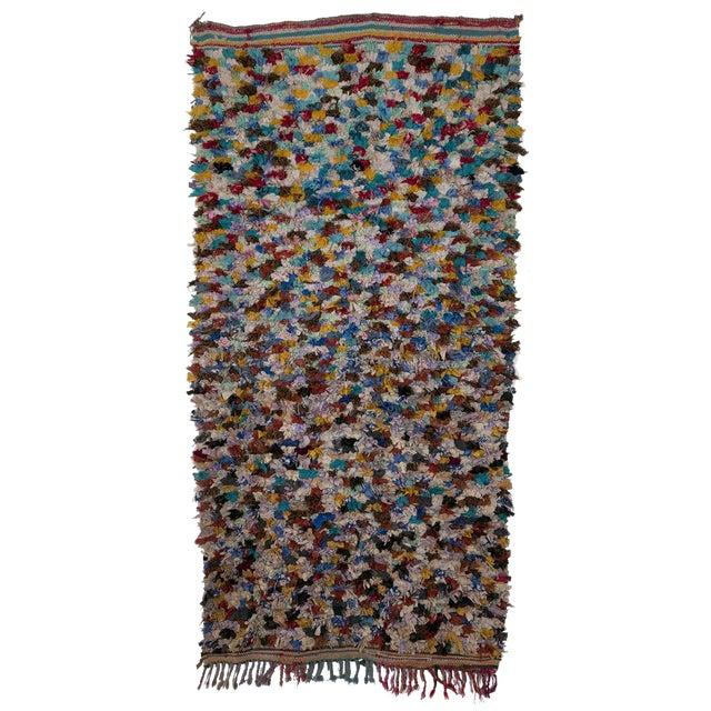 "Boucherouite Moroccan Carpet - 7' x 3'6"" - Image 1 of 2"