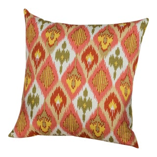 Ikat-Inspired Print with a Global-Chic Flair Pillow