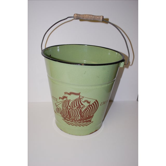 Antique European Enamel Bucket - Image 2 of 4
