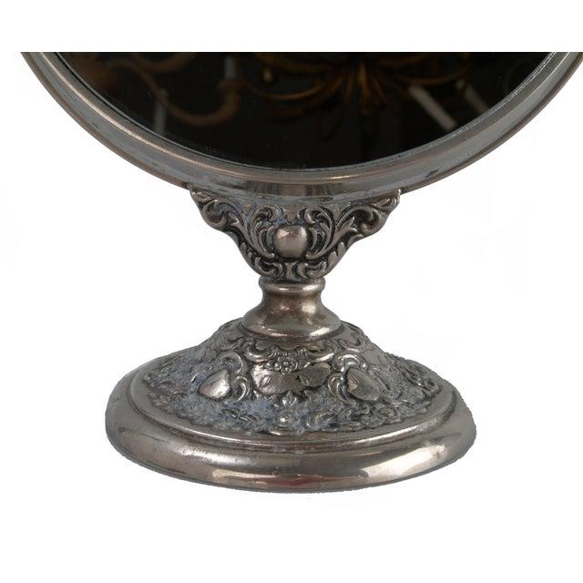 Silver-Plate Vanity Mirror - Image 6 of 9