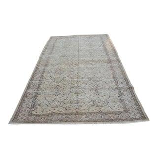 Vintage Handwoven Turkish Beige Oushak Carpet - 5′9″ × 9′2″