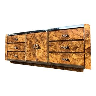 Burl Laminate Chrome Dresser