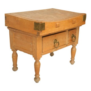 Dynamite Original American Maple Butcher Block with Drawers, circa 1920