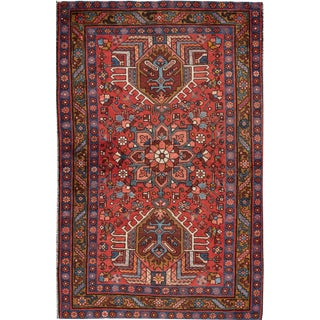 "Apadana Vintage Persian Heriz Rug - 3'8"" x 5'7"""