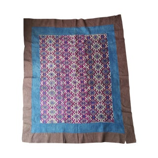 Hand Embroidered Silk Dowry Quilt