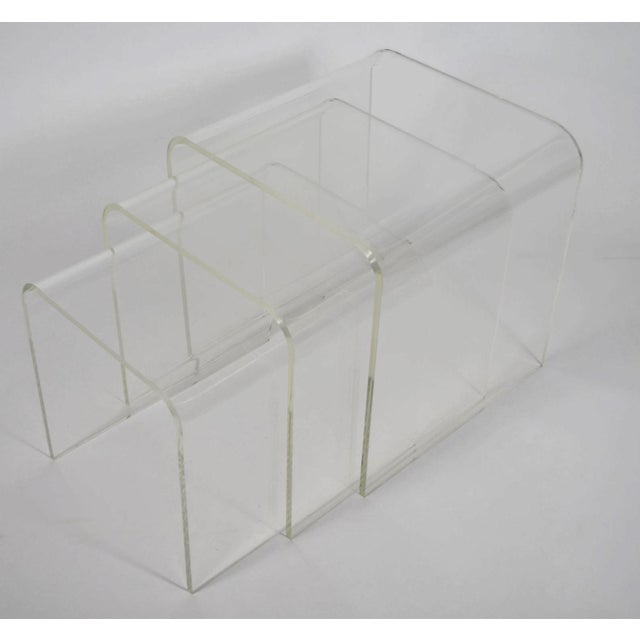 Set of Three Lucite Nesting Tables - Image 2 of 7