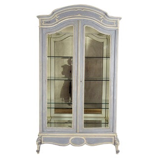 French 19th C. Louis XV 2-Door Display Cabinet