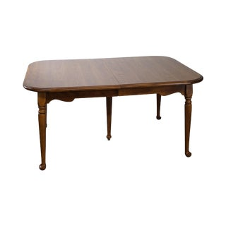 Ethan Allen Traditional Maple Dining Table w/ 2 Leaves