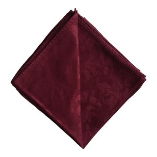 Maroon Damask Napkins - set of 12