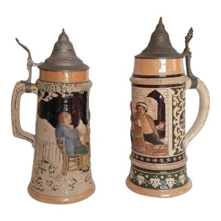 Oktoberfest Beer Steins - A Pair