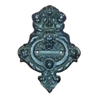 Antique Cherubs Cast Iron Door Knocker