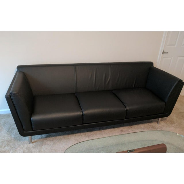 Herman Miller Goetz Leather Sofa - Image 3 of 3