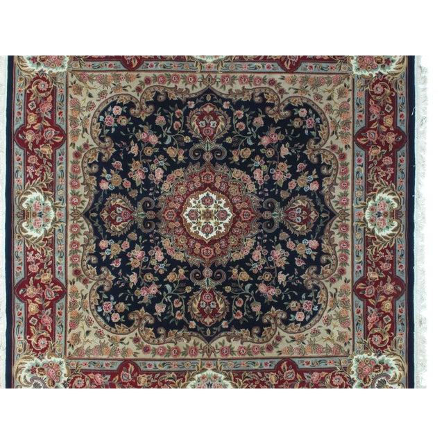 Square Sino Persian Carpet - 8′ × 8′1″ - Image 4 of 8