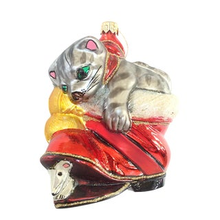 Christopher Radko Glass Cat in Boot Ornament