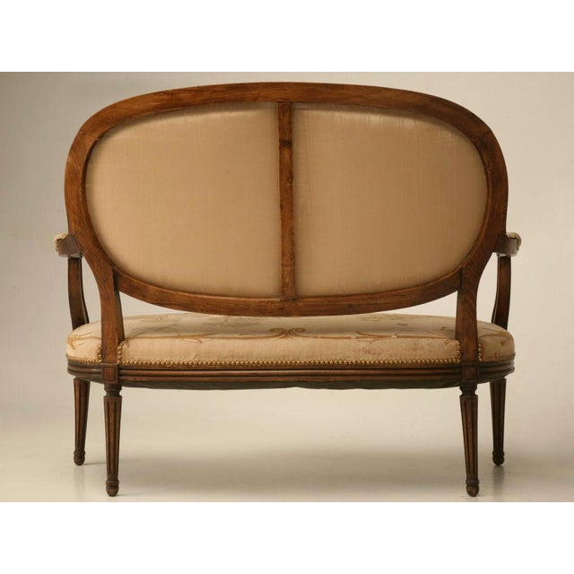 Image of Louis XVI Aubusson Upholstered Settee