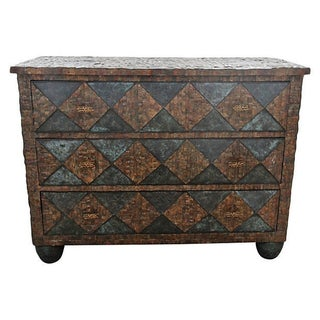 Maitland-Smith Brutalist Mahogany Chest