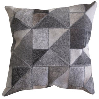Cowhide Patch Pillow