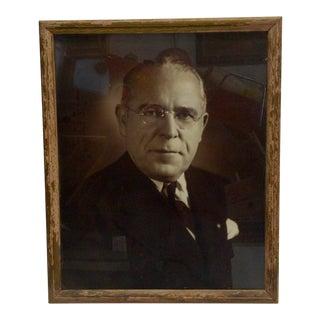 Vintage Black & White Photograph of Mayor David L. Lawrence , 1940