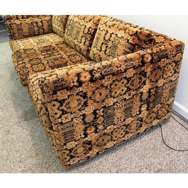 Image of Mid Century Milo Baughman Forecast Furniture Sofa