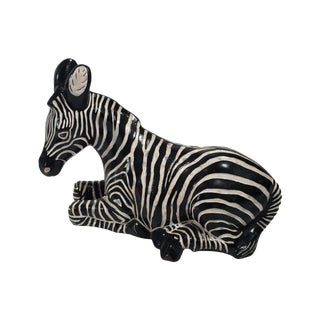 Ceramic Zebra Figure