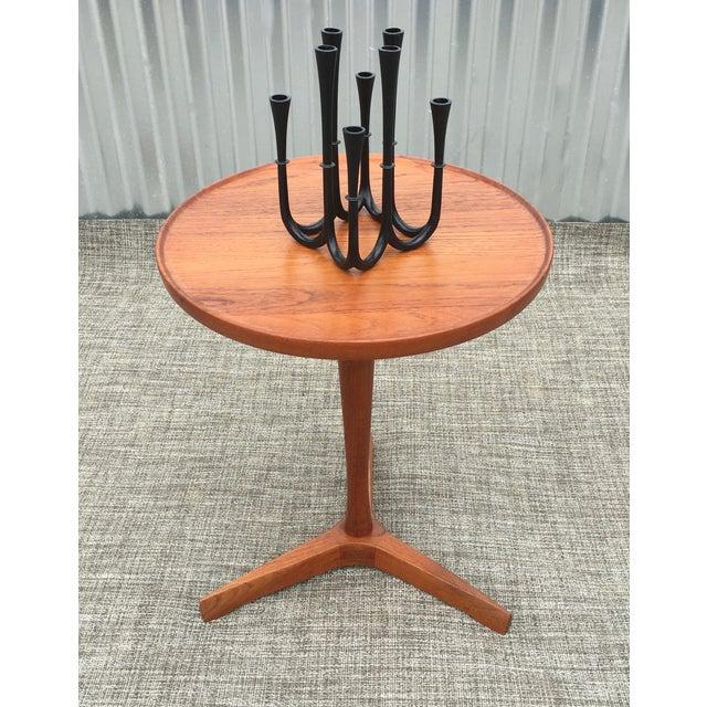 Danish Modern Hans Andersen Tripod Side Table - Image 4 of 6