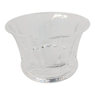 Large Lucite Scalloped Bowl Ice Bucket Wine Cooler