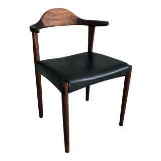 Sculpted Rosewood Horn Chair by Harry Ostergaard