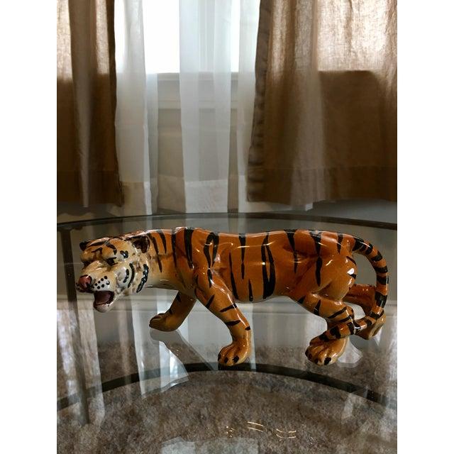 1970's Italian Terracotta Tiger - Image 4 of 8
