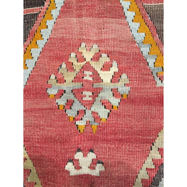 "Vintage Turkish Kilim Rug- 7'7"" x 11'7"" - Image 7 of 8"