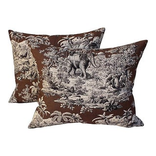 Manuel Canovas Safari Toile Pillow - A Pair