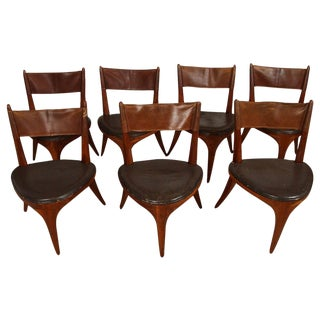 Allen Ditson Hand Crafted Dining Chairs, Set of 7