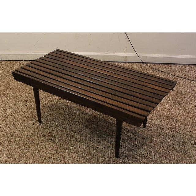 Mid Century Danish Modern Walnut Slat Bench Coffee Table Chairish
