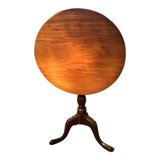 English Tilt Top Round Table
