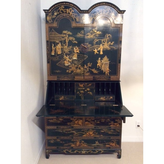 Vintage Chinoiserie Chippendale Secretary - Image 7 of 11