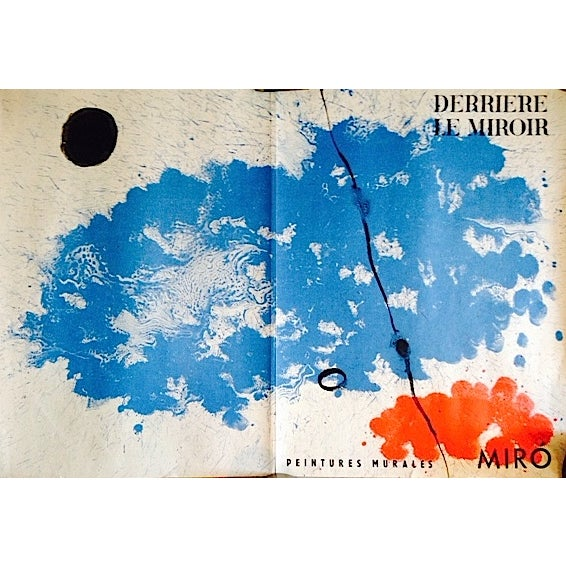 Original 1961 Miro Poster Derriere Le Miroir - Image 1 of 6