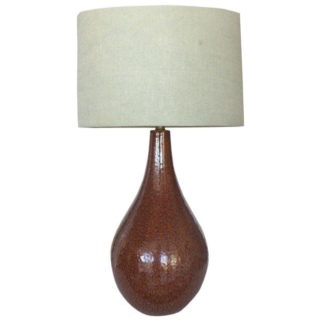 Mid-Century Modern Glazed Ceramic Table Lamp - Image 1 of 5