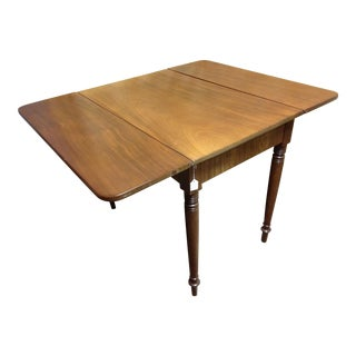 Solid Mahogany Federal Drop Leaf Table
