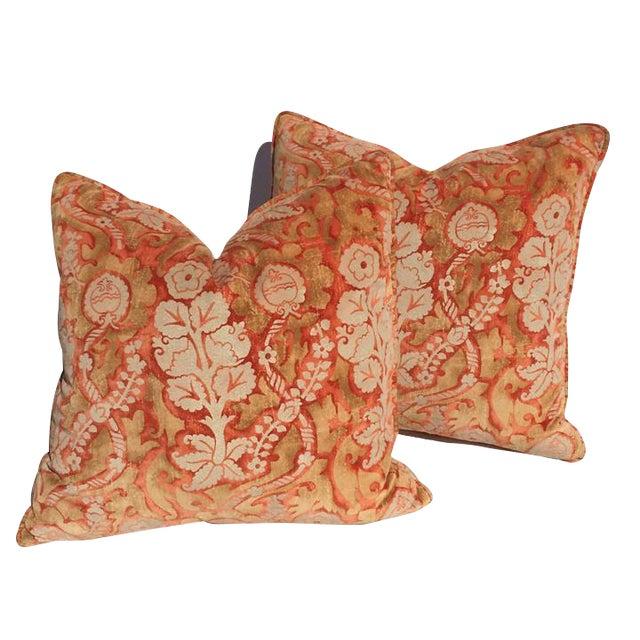 Designer Damask Velvet Pillows - Image 1 of 6