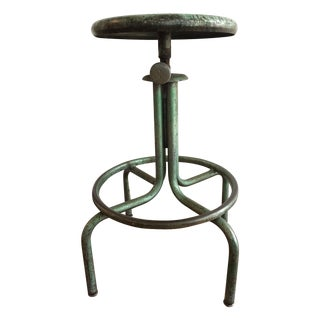 Industrial Green Barstool