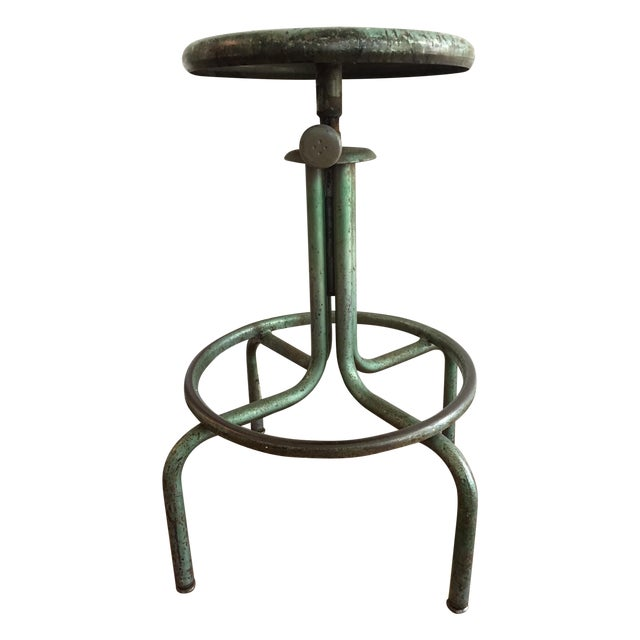 Image of Industrial Green Barstool