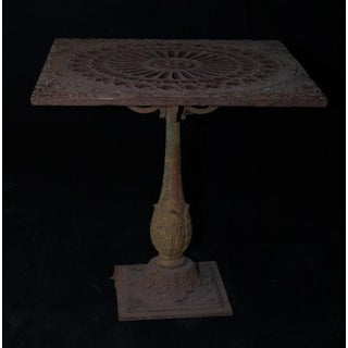 Unique Cast Iron Garden Table
