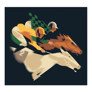 Modern Danish Fitzdares Horse Race Poster