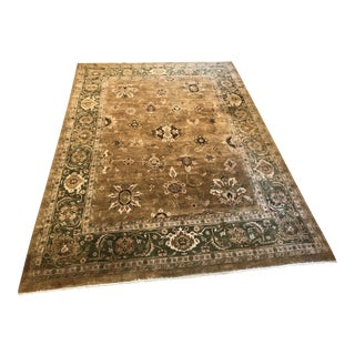 """Hand Woven Indian Wool Pile Area Rug - 129"""" x 165"""""""