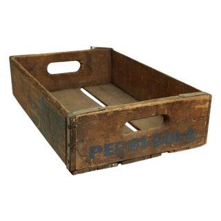 Worn Vintage Wooden Pepsi Crate